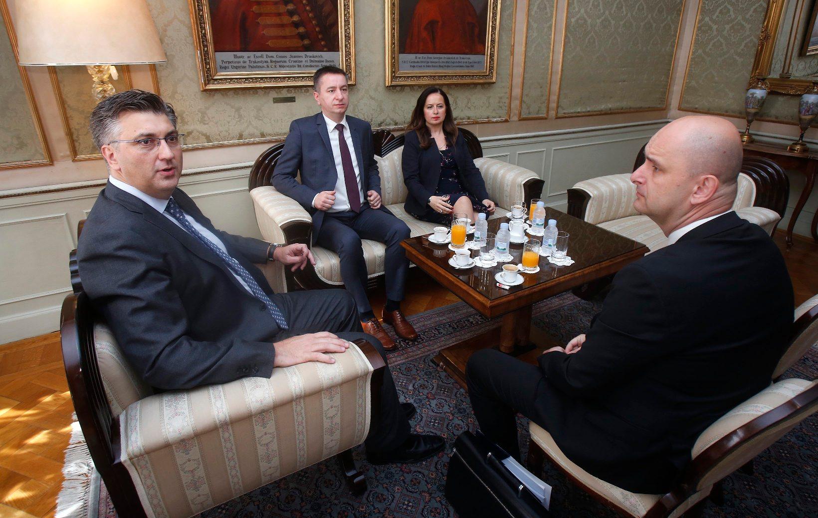 Andrej Plenković, Fabris Peruško, Irena Weber, Tomislav Tolušić