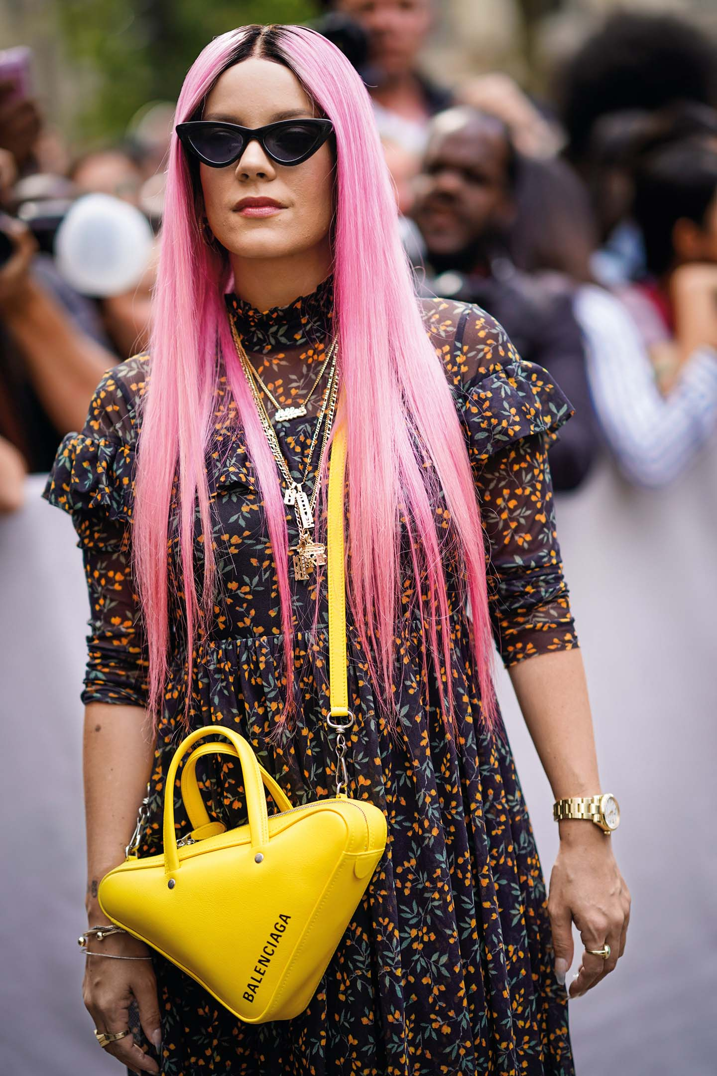 PARIS, FRANCE - JUNE 23:  Lily Allen is seen, outside Dior, during Paris Fashion Week - Menswear Spring-Summer 2019, on June 23, 2018 in Paris, France.  (Photo by Edward Berthelot/GC Images)