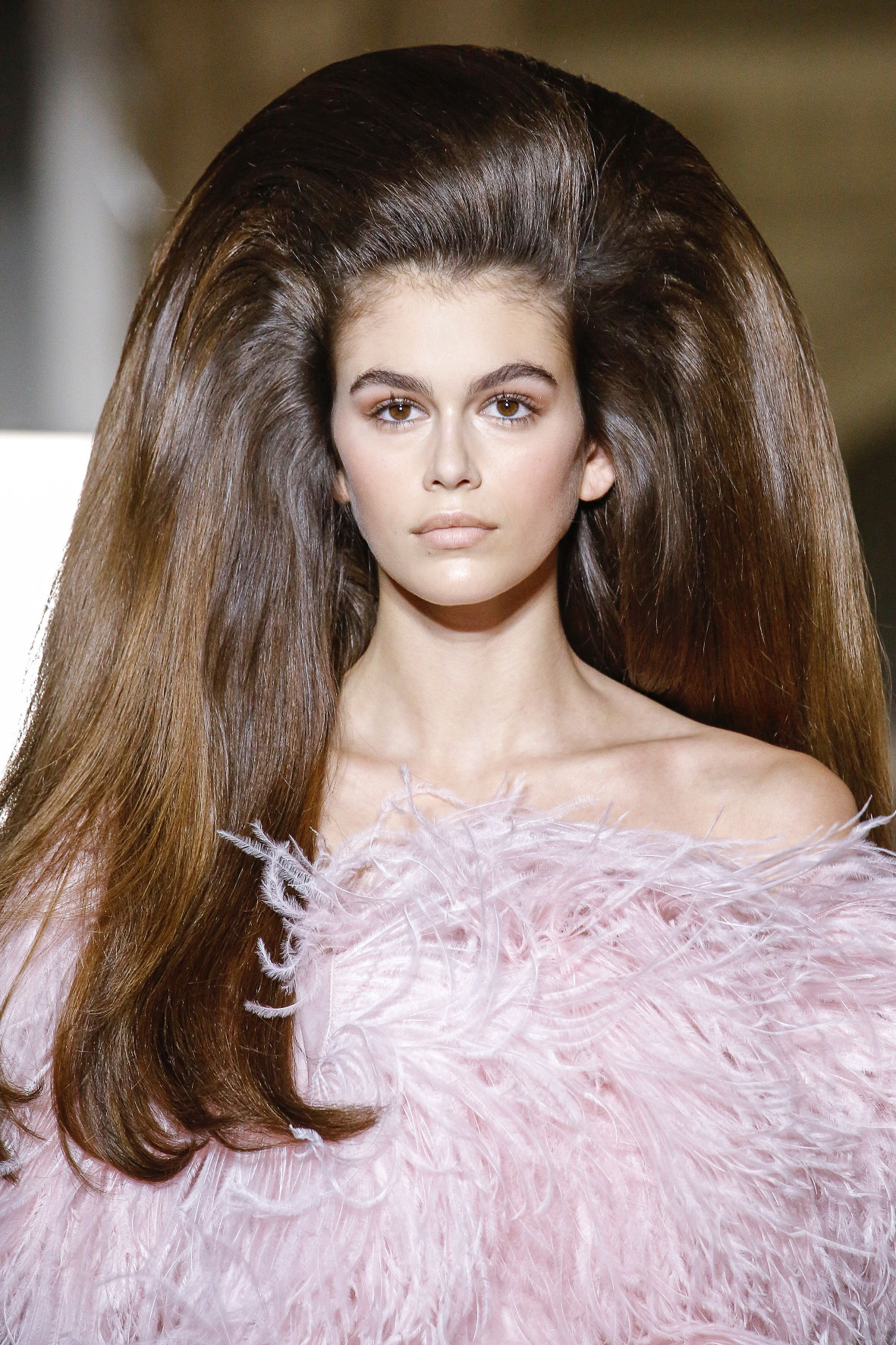 The Valentino Runway Fall Winter 2018 line during the Haute Couture Fashion Week in Paris, France.  Model Kaia Gerber was seen modeling for the runway show.  Pictured: Kaia Gerber Ref: SPL5008221 040718 NON-EXCLUSIVE Picture by: SplashNews.com  Splash News and Pictures Los Angeles: 310-821-2666 New York: 212-619-2666 London: 0207 644 7656 Milan: +39 02 4399 8577 Sydney: +61 02 9240 7700 photodesk@splashnews.com  World Rights, No France Rights
