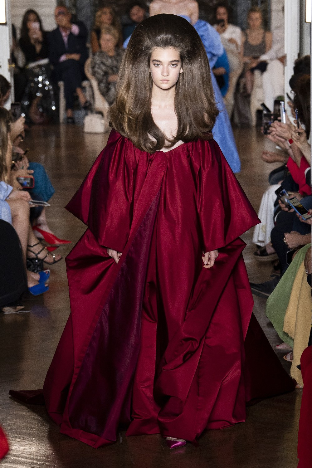 The Valentino Runway Fall Winter 2018 line during the Haute Couture Fashion Week in Paris, France.  Model Kaia Gerber was seen modeling for the runway show.  Pictured: Model on the catwalk Ref: SPL5008221 040718 NON-EXCLUSIVE Picture by: SplashNews.com  Splash News and Pictures Los Angeles: 310-821-2666 New York: 212-619-2666 London: 0207 644 7656 Milan: +39 02 4399 8577 Sydney: +61 02 9240 7700 photodesk@splashnews.com  World Rights, No France Rights