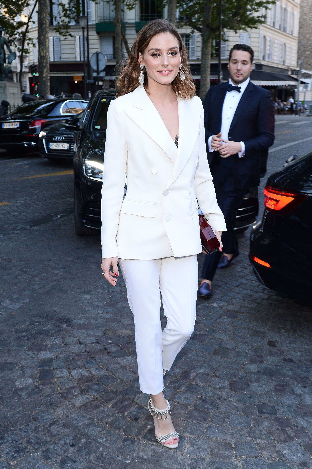 Celebrities attend the Vogue party in Paris, France.  Pictured: Olivia Palermo Ref: SPL5007967 030718 NON-EXCLUSIVE Picture by: SplashNews.com  Splash News and Pictures Los Angeles: 310-821-2666 New York: 212-619-2666 London: 0207 644 7656 Milan: +39 02 4399 8577 Sydney: +61 02 9240 7700 photodesk@splashnews.com  World Rights, No Poland Rights