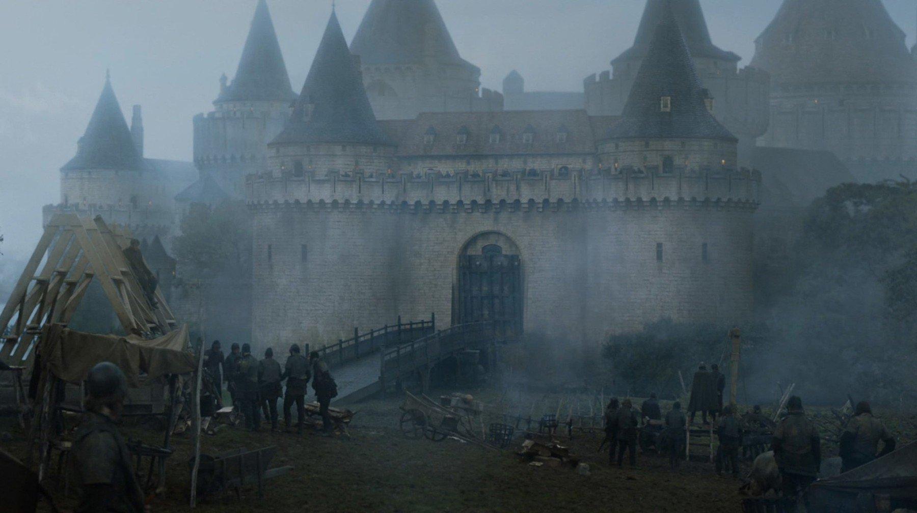 Dvorac Gosford kao tvrđava Riverrun Kuće Tully u sceni HBO-ove serije Igra prijestolja