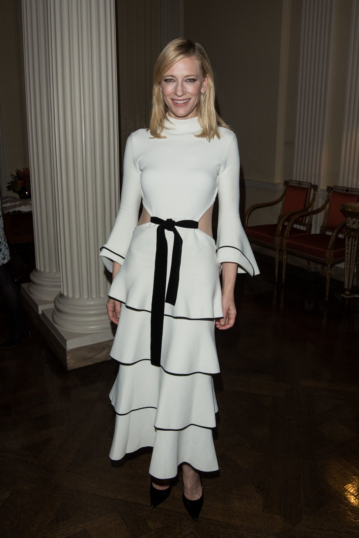 (5249403k) Cate Blanchett attends a pre-Oscars party held at the US Ambassador's Residence in London. Pre-Oscars Party, London, Britain - 14 Oct 2015, Image: 262437824, License: Rights-managed, Restrictions: , Model Release: no, Credit line: Profimedia, TEMP Rex Features