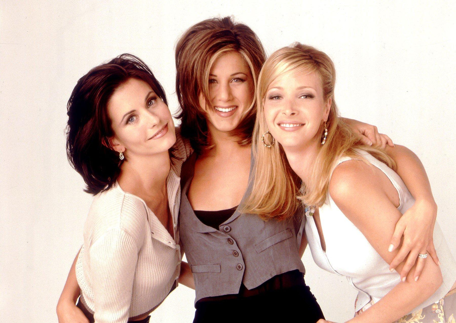 Courteney Cox, Jennifer Aniston et Lisa Kudrow in TV serie