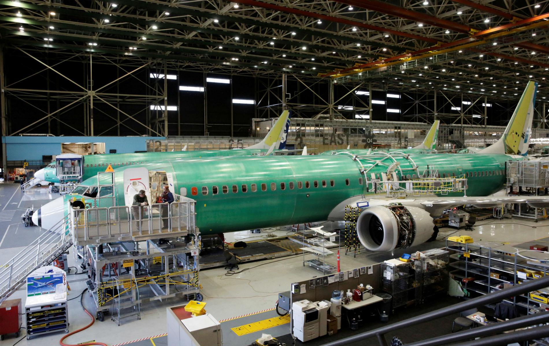 Ilustracija: Boeing 737 max na proizvodnoj liniji u tvornici u Rentonu