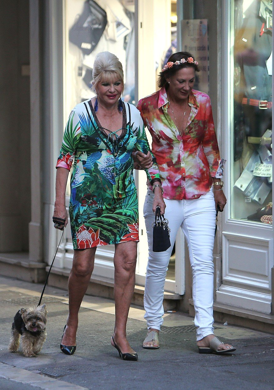 Ivana Trump strolling in St Tropez France on august 3 , 2016, Image: 296026219, License: Rights-managed, Restrictions: , Model Release: no, Credit line: Profimedia, KCS Presse