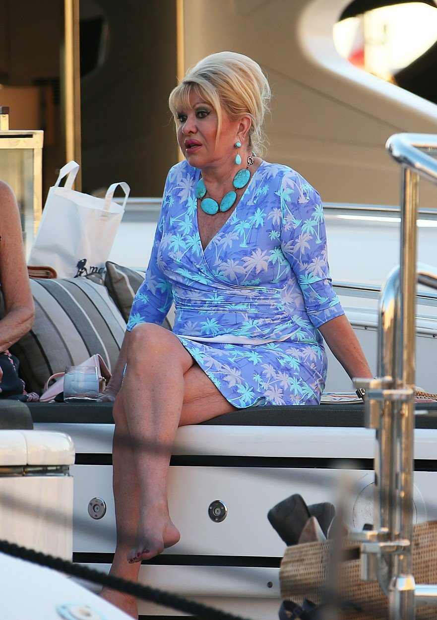 Ivana Trump en vacances a St tropez France le 14 juillet 2017 Ivana Trump is on holiday in St tropez France on july 14 , 2017, Image: 341892933, License: Rights-managed, Restrictions: , Model Release: no, Credit line: Profimedia, KCS Presse