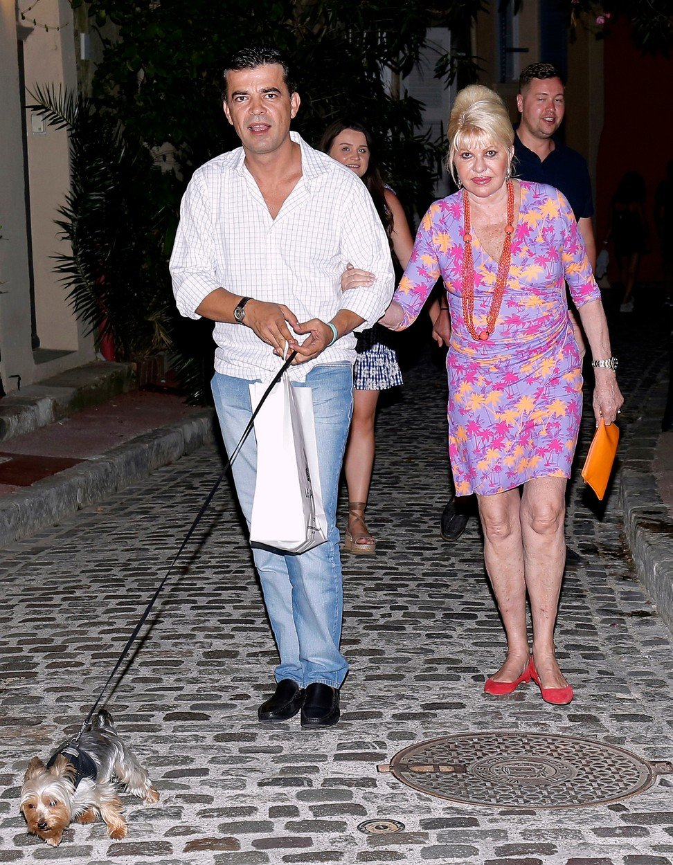 August 17th, 2018 - Saint Tropez  ****** Exclusive ******          A very colorfull Ivana Trump enjoying a romantic night out with a mysterious man in Saint Tropez.  ****** BYLINE MUST READ : © Spread Pictures ******  ****** Please hide the children's faces prior to the publication ******  ****** No Web Usage before agreement ******  ****** Strictly No Mobile Phone Application or Apps use without our Prior Agreement ******  Enquiries at photo@spreadpictures.com, Image: 382999466, License: Rights-managed, Restrictions: WORLDWIDE, Model Release: no, Credit line: Profimedia, Spread Pictures