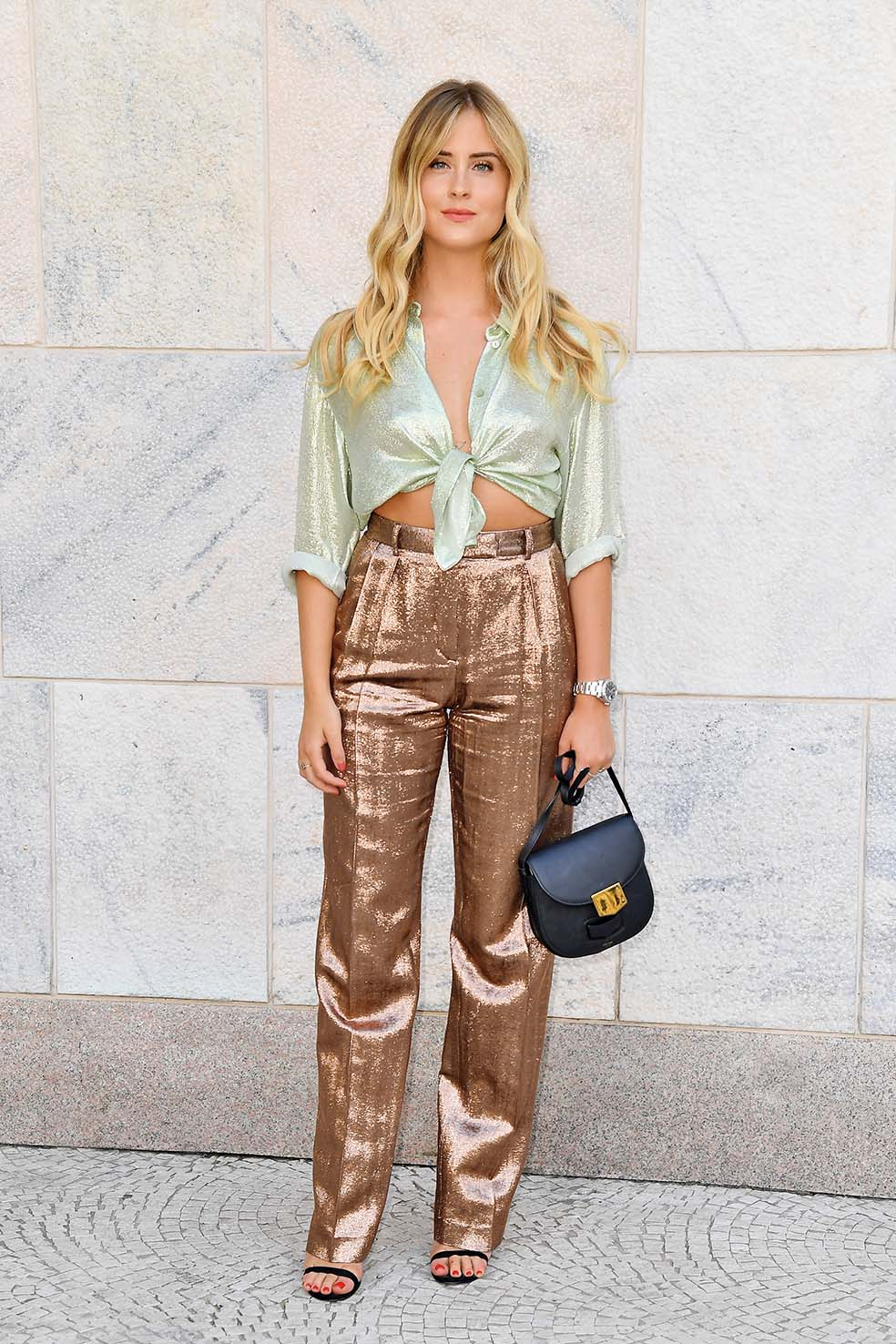 MILAN, ITALY - JUNE 15: Valentina Ferragni arrives at the Alberta Ferretti show during Milan Men's Fashion Week Spring/Summer 2019 on June 15, 2018 in Milan, Italy.  (Photo by Jacopo Raule/Getty Images)