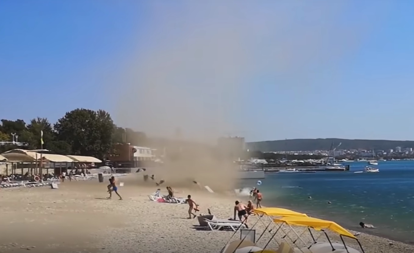 tornado na plaži