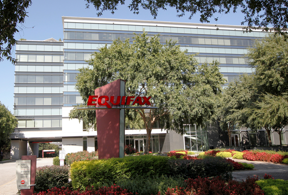 Credit reporting company Equifax  Inc. corporate offices are pictured in Atlanta, Georgia, U.S., September 8, 2017.    REUTERS/Tami Chappell - RC12AEE09DF0