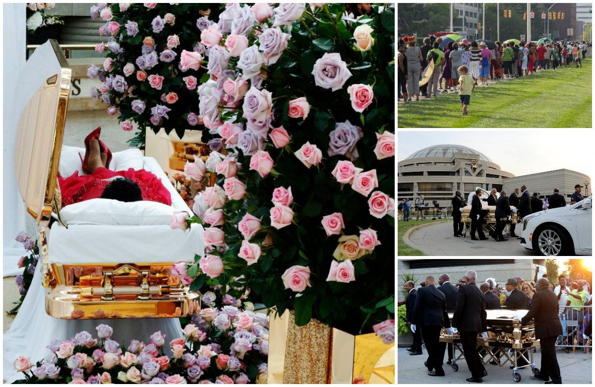 Odavanje počasti umrloj pjevačici Arethi Franklin u njezinom rodnom Detroitu, dva dana prije sprovoda.