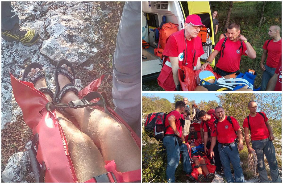 Pripadnici HGSS-a spasili su turista koji se u sandalama penjao na planinu pa se ozlijedio