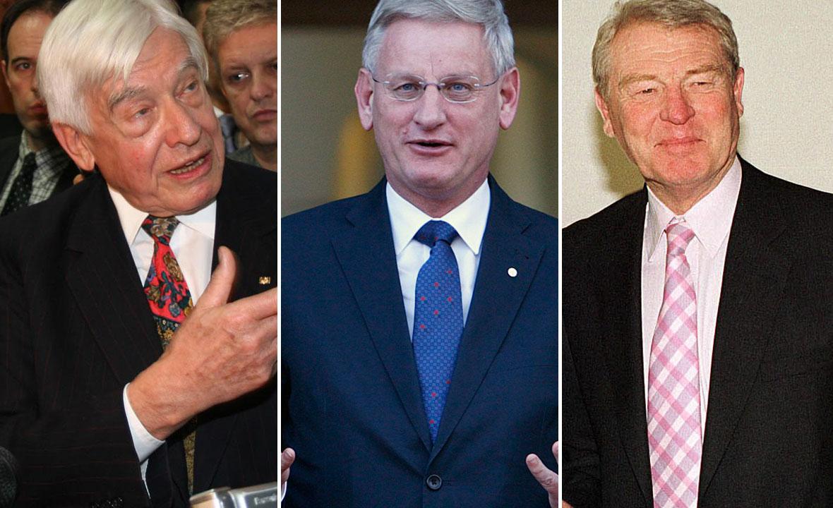 Christian Schwarz-Schilling, Carl Bildt i Paddy Ashdown