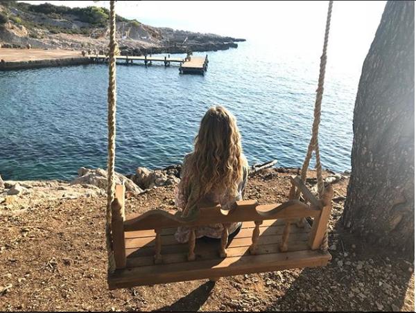 Amanda na svojoj omiljenoj lokaciji