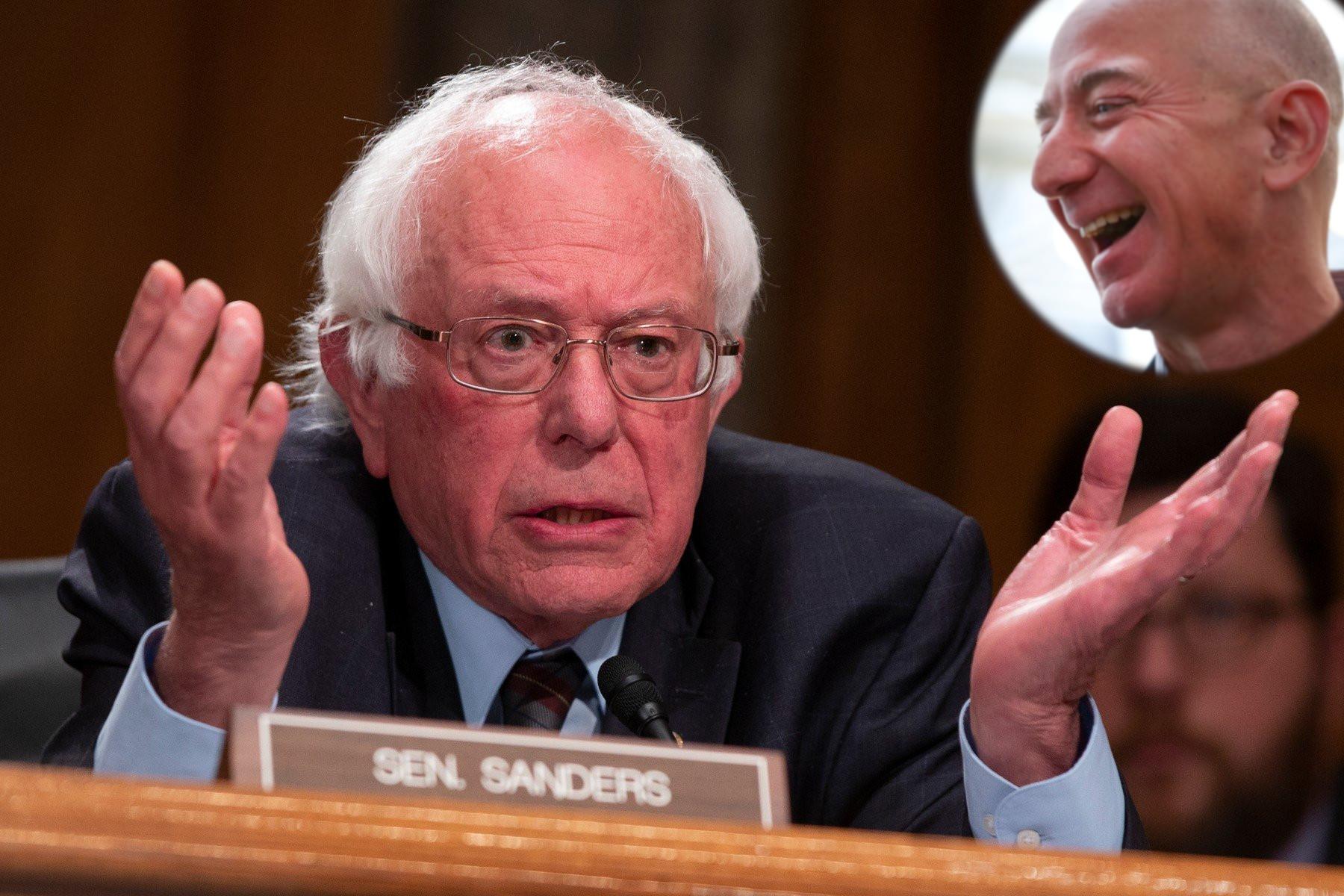 Bernie Sanders i Jeff Bezos