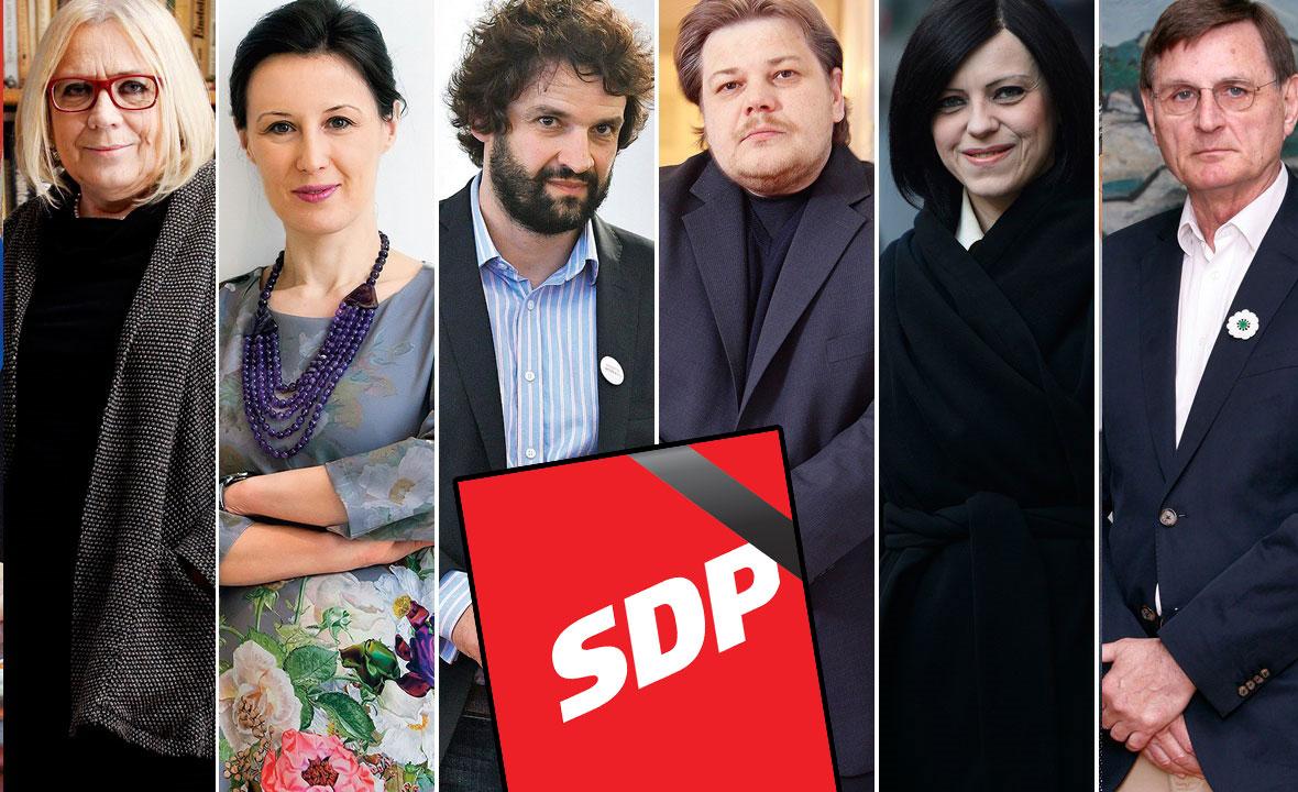 Nadežda Čačinovič, Dalija Orešković, Boris Jokić, Ivan Račan, Mirela Holy i Gvozden Flego