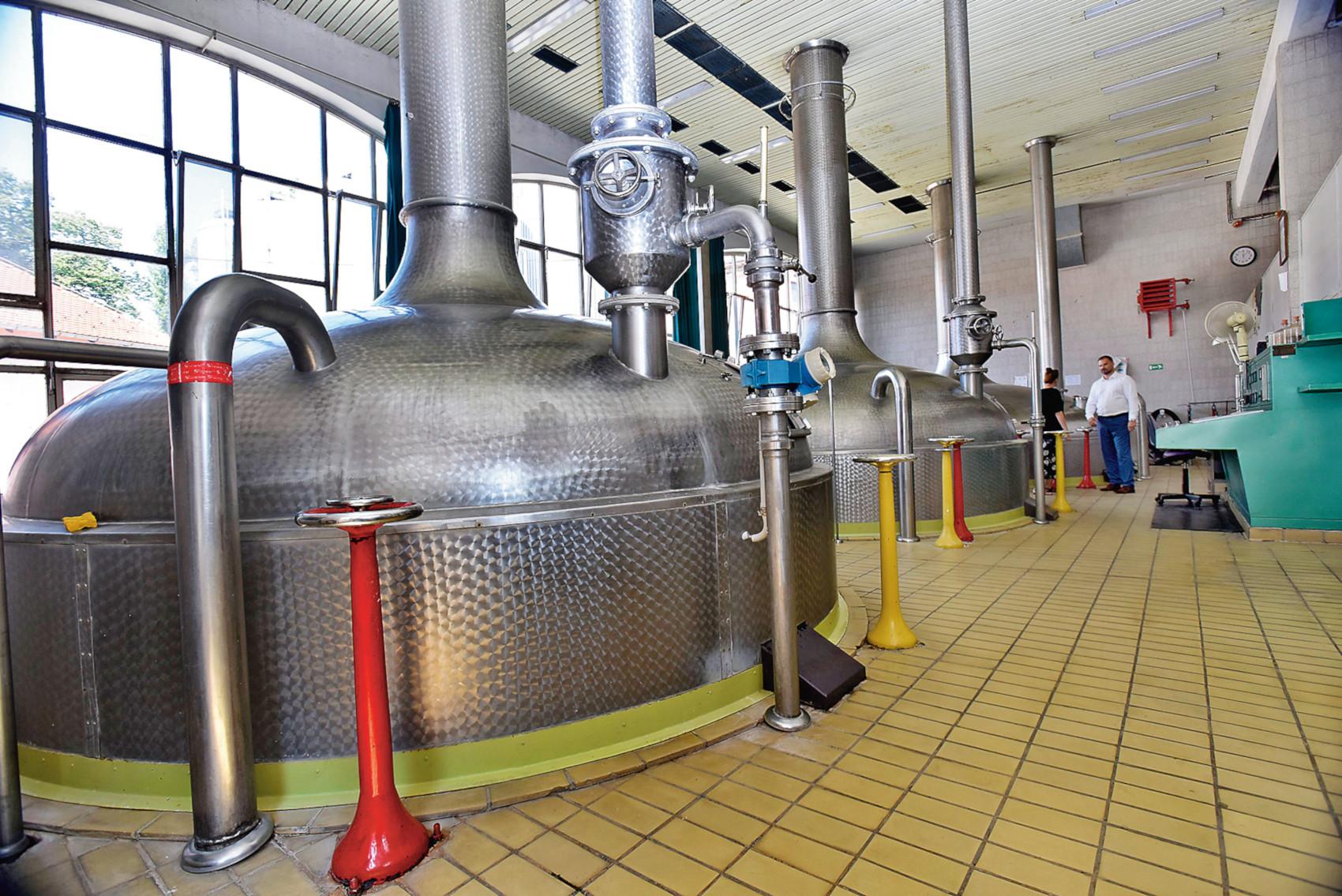 Daruvar, 230818. Postrojenja Daruvarske pivovare. Na fotografiji: Postrojenja daruvarske pivovare u kojima se proizvodi razna kraft piva. Foto: Krasnodar Persun / CROPIX