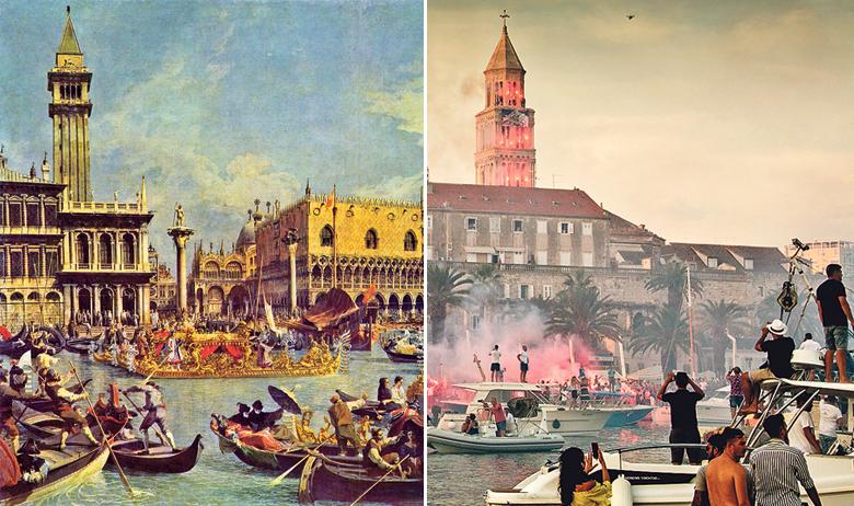 """Oliverov splitski ispraćaj podsjetio nas je na prizor """"Vjenčanja s morem"""" venecijanskog slikara Giovannija Antonija Canala"""