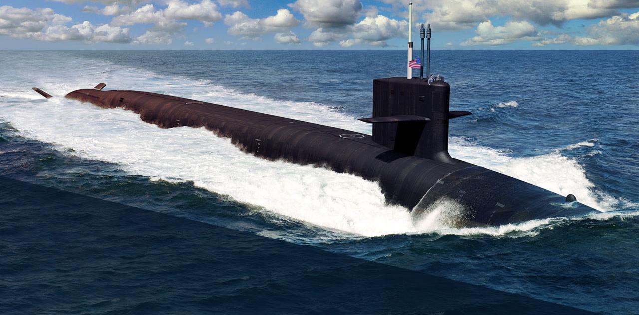 Simulacija izgleda buduće podmornice klase Columbia