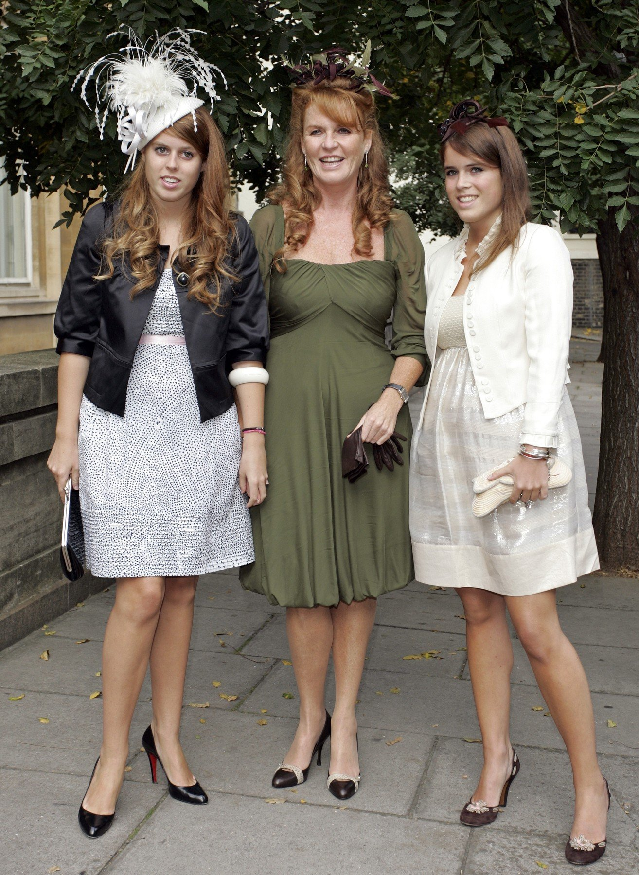 Princess Beatrice, Sarah Ferguson, Duchess of York and Princess Eugenie The wedding of Chloe Delevigne and Louis Buckworth, St. Paul's Church, Knightsbridge, London, Britain - 07 Sep 2007   693228a, Image: 226113147, License: Rights-managed, Restrictions: , Model Release: no, Credit line: Profimedia, TEMP Rex Features