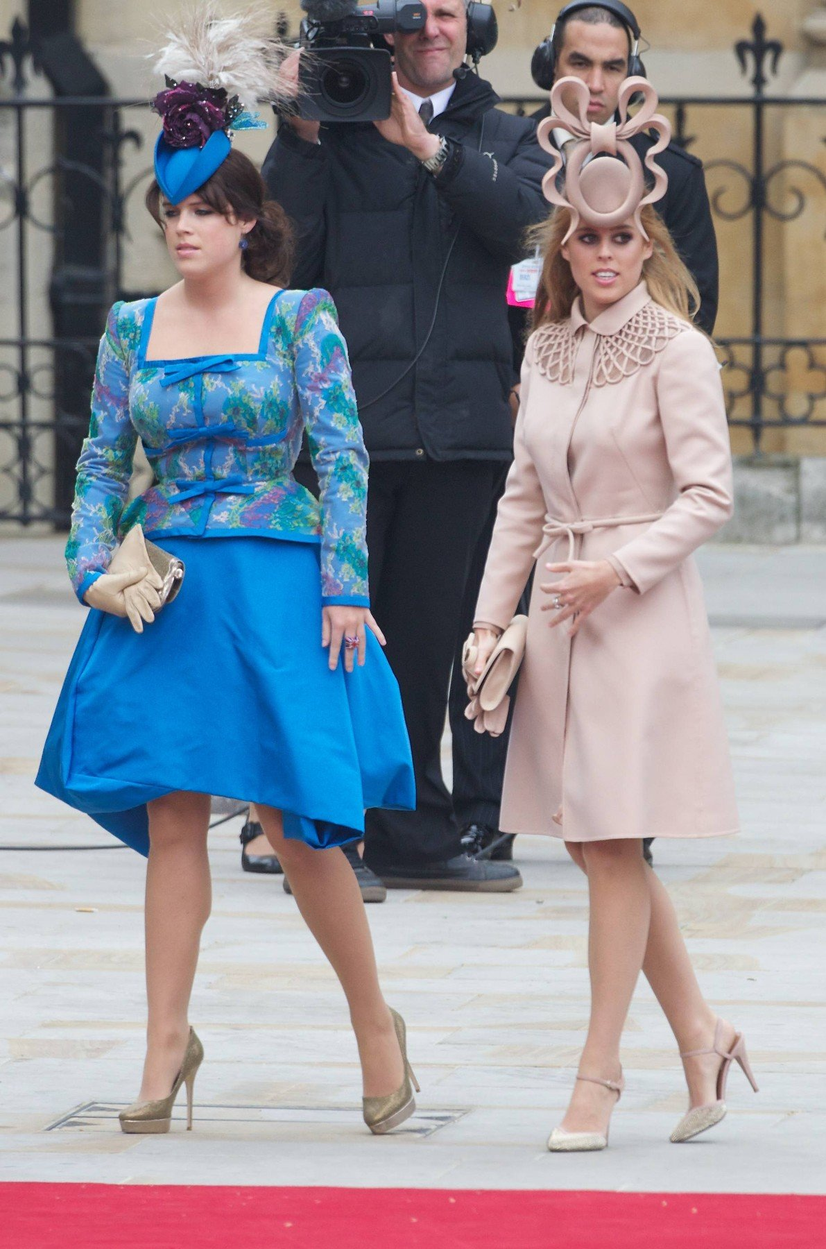 Princess Beatrice and Princess Eugenie The wedding of Prince William and Catherine Middleton, London, Britain - 29 Apr 2011, Image: 222081562, License: Rights-managed, Restrictions: , Model Release: no, Credit line: Profimedia, TEMP Rex Features