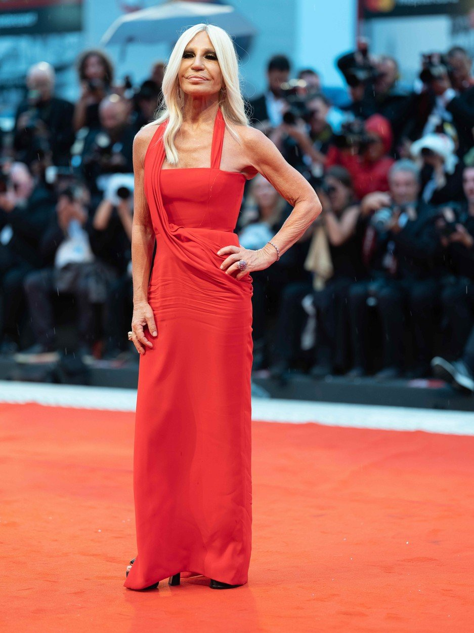 Donatella Versace 'A Star is Born' premiere, 75th Venice International Film Festival, Italy - 31 Aug 2018, Image: 384865606, License: Rights-managed, Restrictions: , Model Release: no, Credit line: Profimedia, TEMP Rex Features