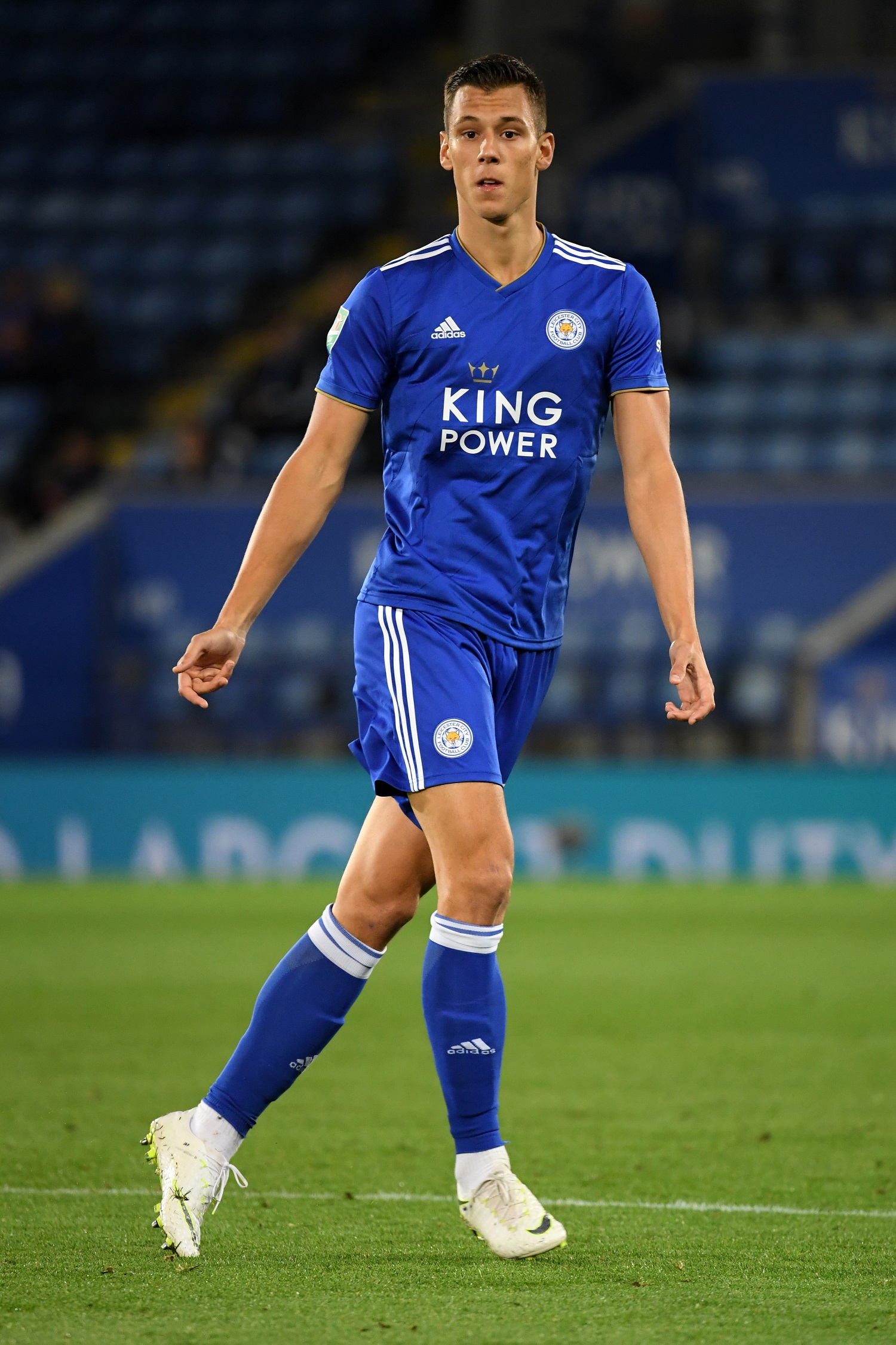 LEICESTER, ENGLAND - AUGUST 28:  Filip Benkovic of Leicester City looks on during the Carabao Cup Second Round match between Leicester City and Fleetwood Town at The King Power Stadium on August 28, 2018 in Leicester, England.  (Photo by Ross Kinnaird/Getty Images)