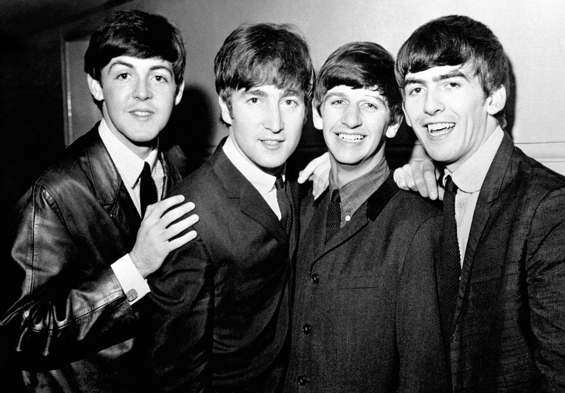 Embargoed to 0001 Friday June 08 File photo dated 1/6/1963 of The Beatles pop group, left to right, Paul McCartney, John Lennon, Ringo Starr and George Harrison. British music accounted for one in every eight albums sold or streamed around the world last year, a report has revealed., Image: 374124507, License: Rights-managed, Restrictions: , Model Release: no, Credit line: Profimedia, Press Association