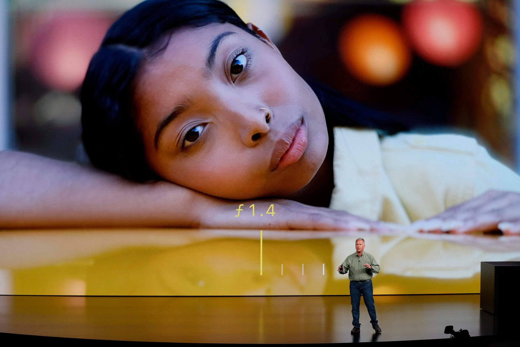 Philip W. Schiller, Senior Vice President, Worldwide Marketing of Apple, speaks about the the new Apple iPhone XS and XS Max at an Apple Inc product launch event at the Steve Jobs Theater in Cupertino, California, U.S., September 12, 2018. REUTERS/Stephen Lam