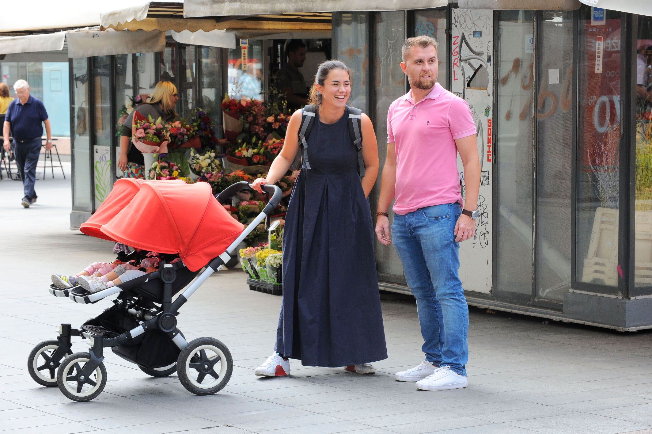 Spica / Zagreb 08.09.2018. / foto: Davor Matota / Mirna Medakovic i suprug Hrvoje Stepinac i kcerke Kaja i Zora
