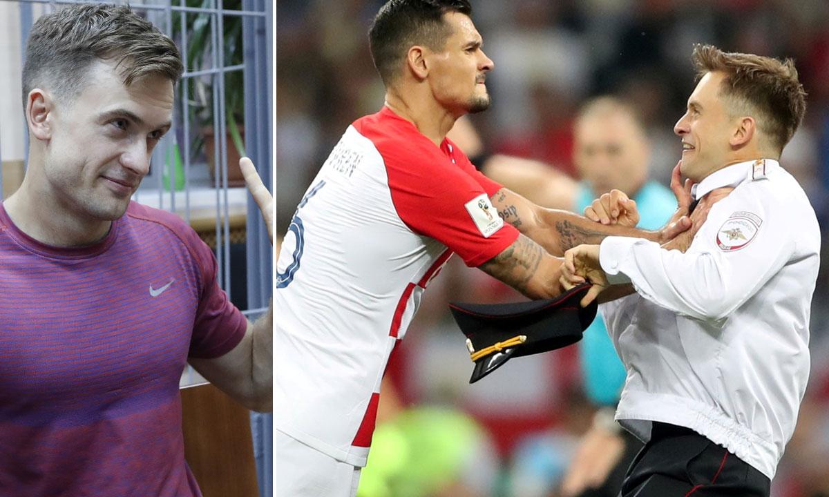 Pjotra Verzilova je s terena u finalnoj utakmici SP-a u jednom trenutku pokušao otjerati hrvatski reprezentativac Dejan Lovren