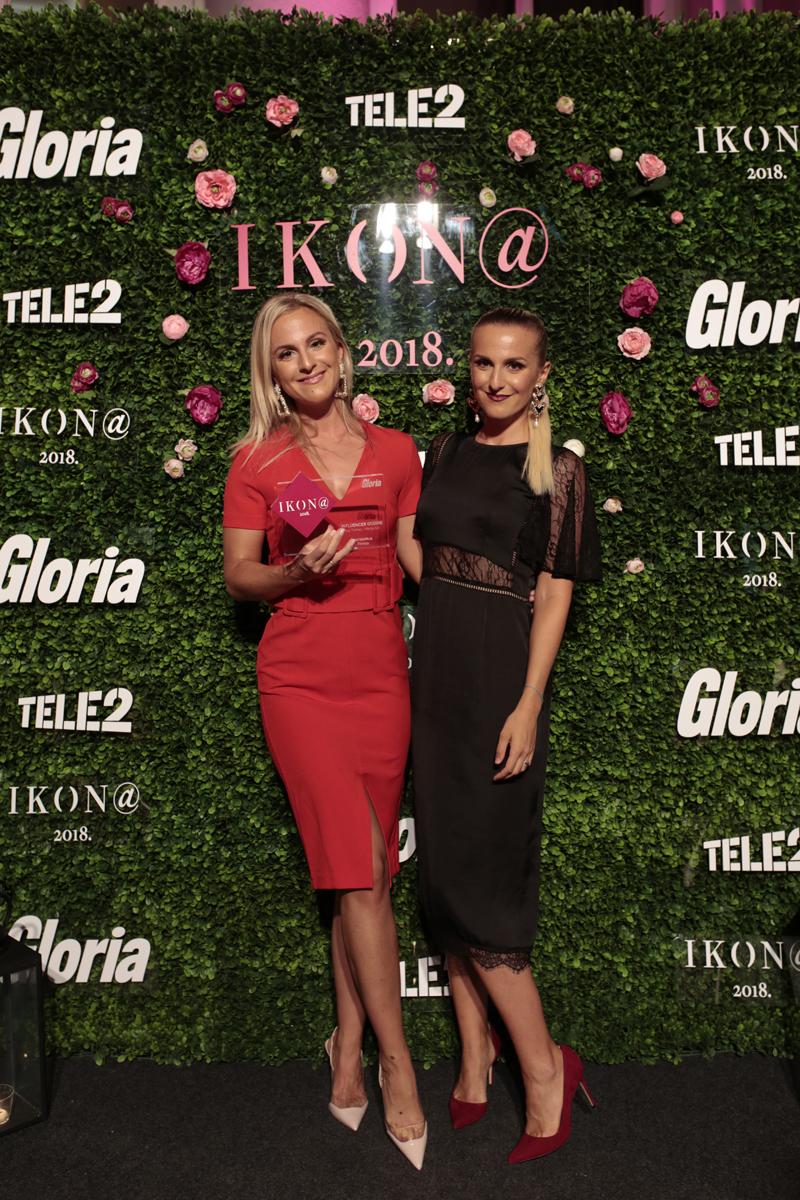 sestre Ana Tomac i Marija Ivic, dodjela nagrada Ikona influencerica godine, 14092018, Mimara, foto: Ana Mihalic