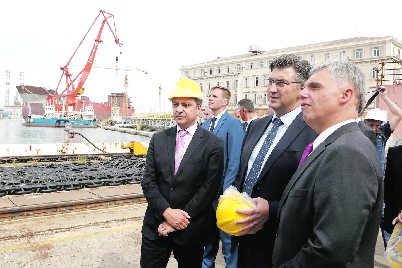 Premijer Andrej Plenković u  brodogradilištu Uljanik