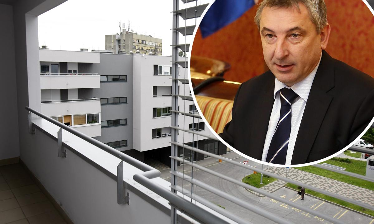 Ilustracija; u krugu: ministar graditeljstva Predrag Štromar