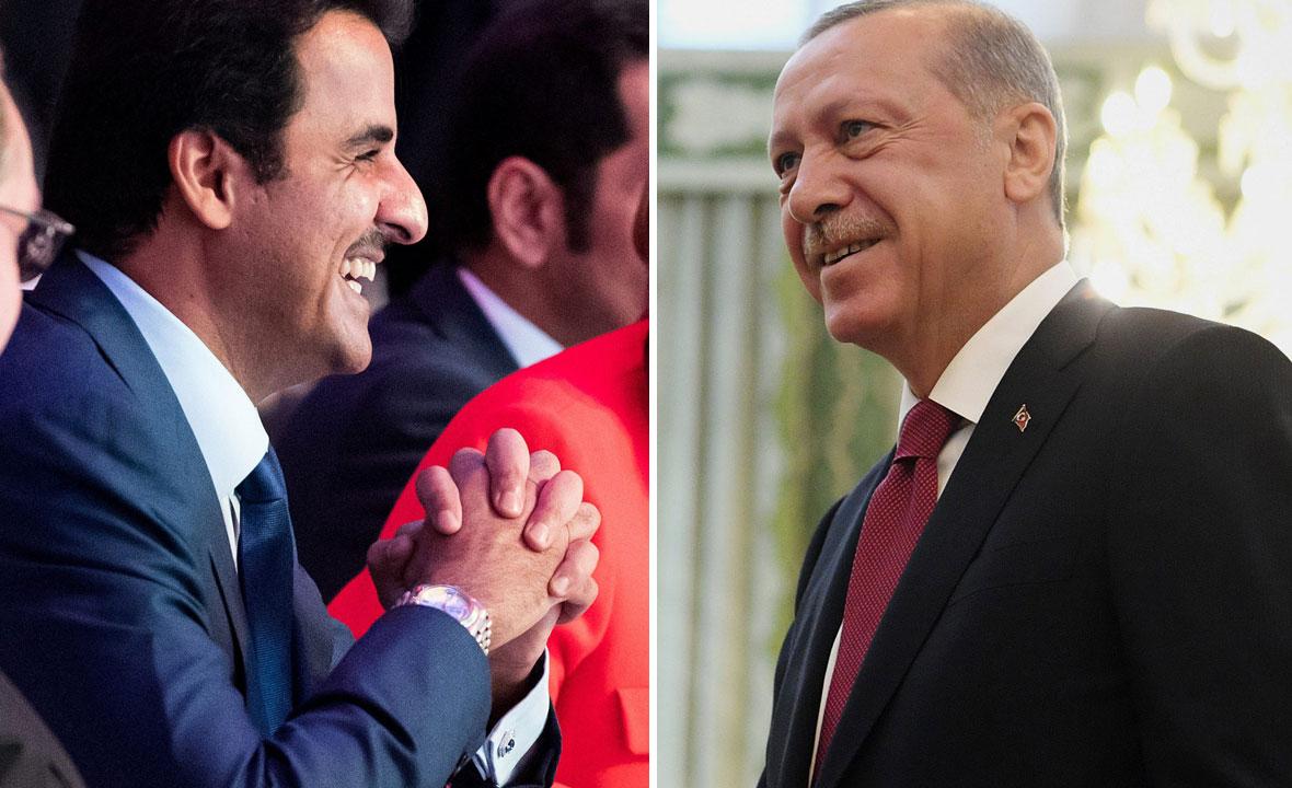 Tamim bin Hamad Al Thani i  Recep Tayyip Erdogan