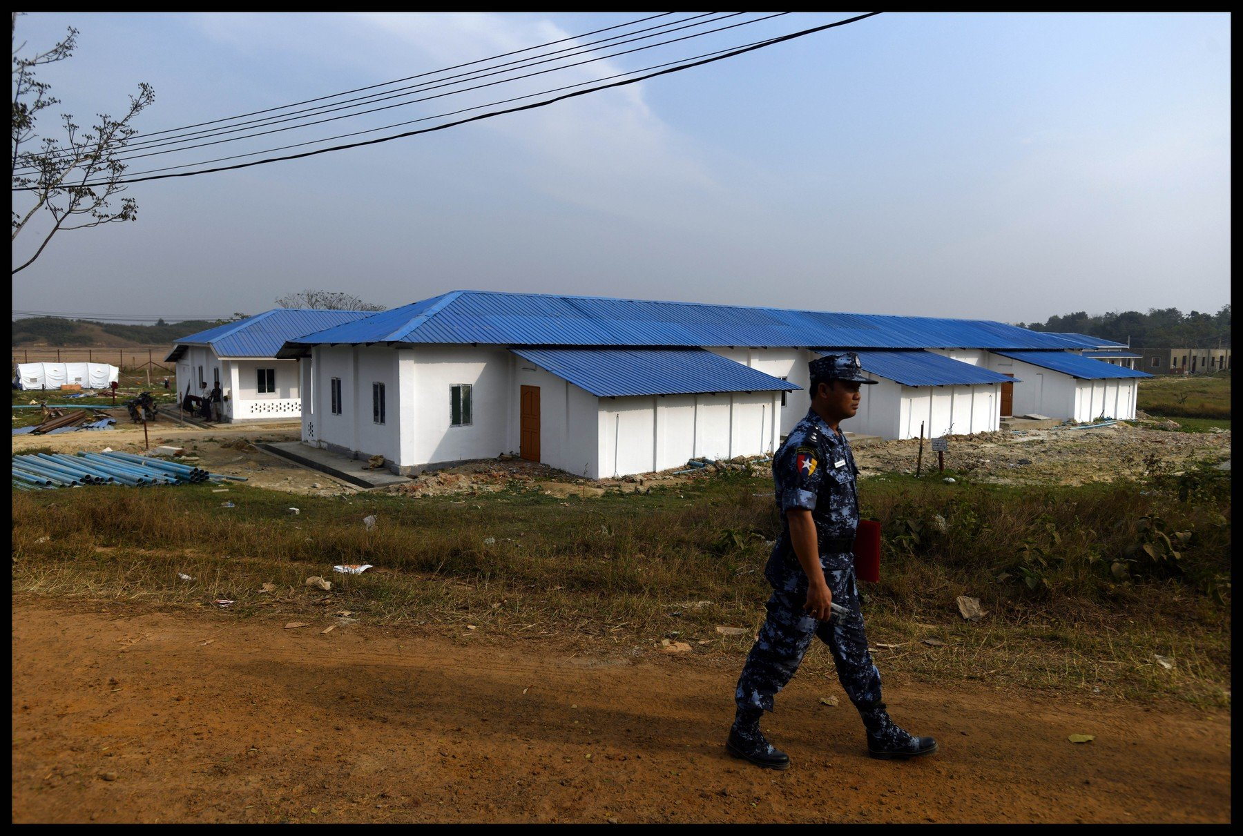 February 11, 2018 - Northern Rakhine, Northern Rakhine, Burma - Northern Rakhine. Images taken February 11th 2018, of A reception centre in Taung Pyo Lat Wae, Northern Rakhine, The centre has been built to house the refugee's once they return from Bangladesh. Rohingya  who have fled Burma to refugee camps in Bangladesh  on the Burma border near Cox's Bazar., Image: 362971452, License: Rights-managed, Restrictions: * China, France, Italy, Spain, Taiwan and UK Rights OUT *, Model Release: no, Credit line: Profimedia, Zuma Press - Archives
