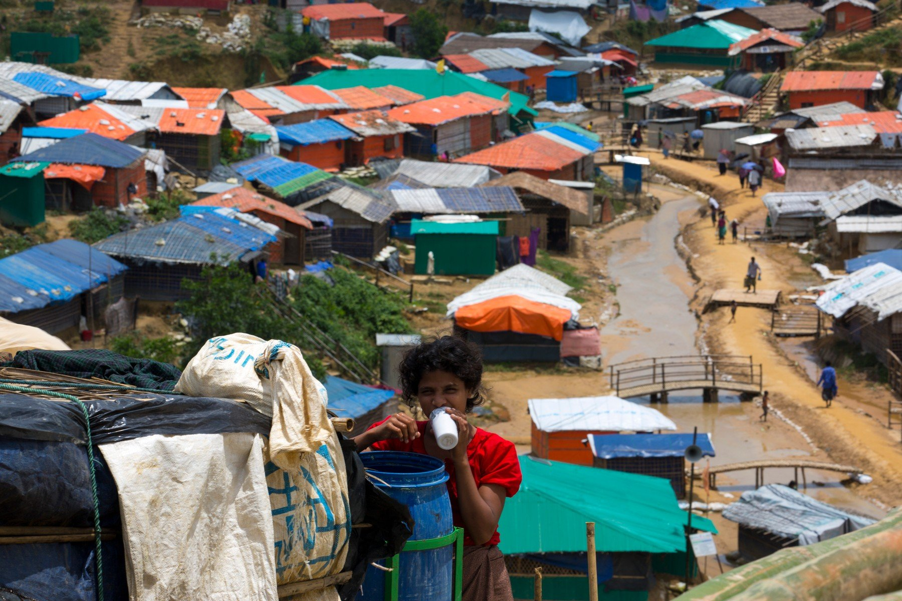 COX'S BAZAR, BANGLADESH - AUGUST 04 : Rohingya people seen inside refugee camp in Cox's Bazar , Bangladesh on August 04, 2018., Image: 381051376, License: Rights-managed, Restrictions: , Model Release: no, Credit line: Profimedia, Barcroft Media