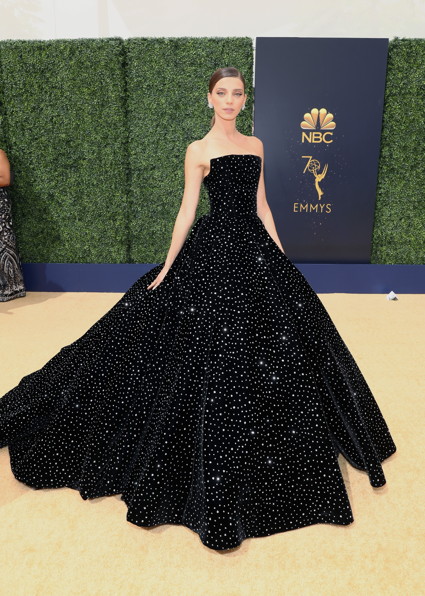 LOS ANGELES, CA - SEPTEMBER 17:  Actor Angela Sarafyan attends the 70th Annual Primetime Emmy Awards at Microsoft Theater on September 17, 2018 in Los Angeles, California. (Photo by Rich Polk/Getty Images for IMDb)