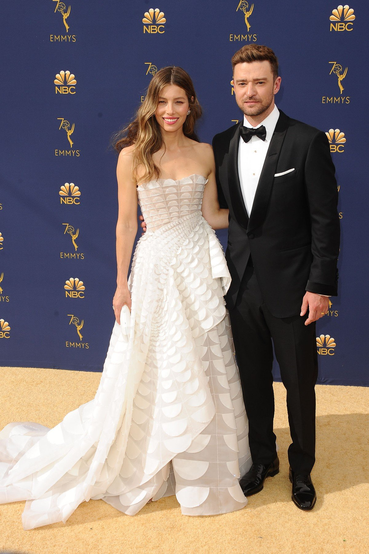 , Los Angeles, CA -20180917 - The 70th Primetime Emmy Awards Red Carpet, at Microsoft Theater  -PICTURED: Jessica Biel, Justin Timberlake -, Image: 387154285, License: Rights-managed, Restrictions: , Model Release: no, Credit line: Profimedia, INSTAR Images