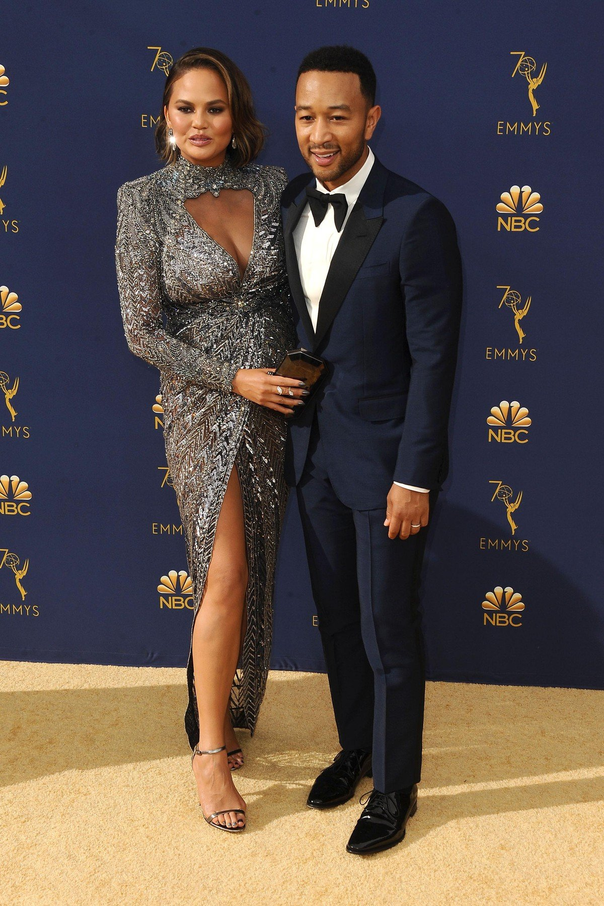 , Los Angeles, CA -20180917 - The 70th Primetime Emmy Awards Red Carpet, at Microsoft Theater  -PICTURED: Chrissy Teigen, John Legend -, Image: 387159464, License: Rights-managed, Restrictions: , Model Release: no, Credit line: Profimedia, INSTAR Images