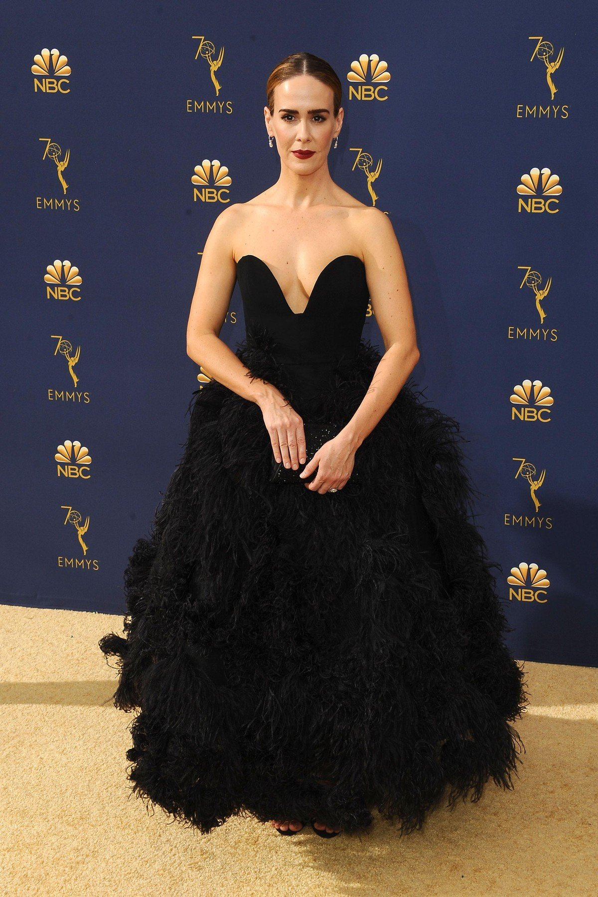 , Los Angeles, CA -20180917 - The 70th Primetime Emmy Awards Red Carpet, at Microsoft Theater  -PICTURED: Sarah Paulson -, Image: 387159239, License: Rights-managed, Restrictions: , Model Release: no, Credit line: Profimedia, INSTAR Images