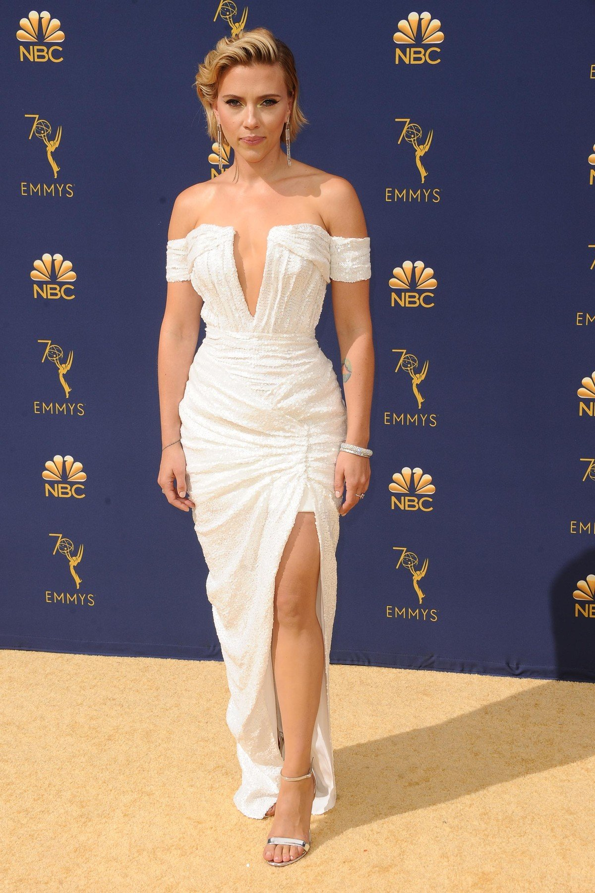 , Los Angeles, CA -20180917 - The 70th Primetime Emmy Awards Red Carpet, at Microsoft Theater  -PICTURED: Scarlett Johansson -, Image: 387146111, License: Rights-managed, Restrictions: , Model Release: no, Credit line: Profimedia, INSTAR Images