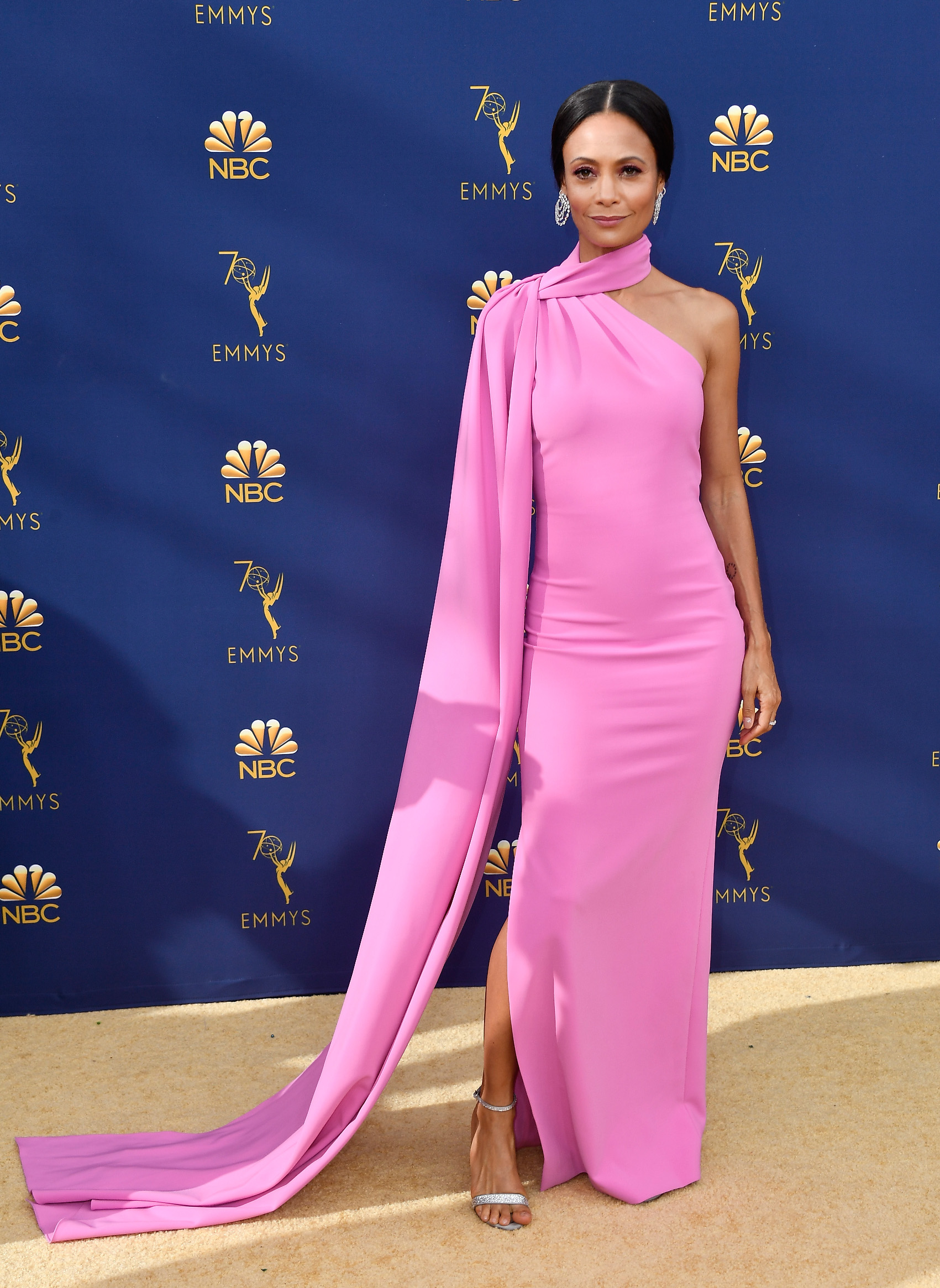 LOS ANGELES, CA - SEPTEMBER 17:  Thandie Newton attends the 70th Emmy Awards at Microsoft Theater on September 17, 2018 in Los Angeles, California.  (Photo by Frazer Harrison/Getty Images)