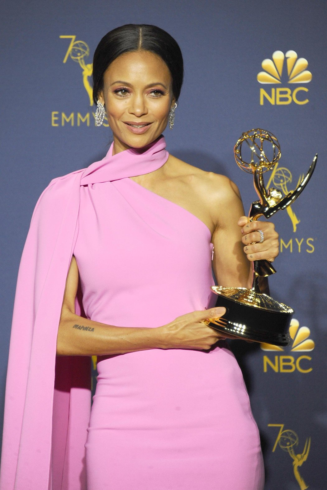, Los Angeles, CA -20180917 - The 70th Primetime Emmy Awards Press Room, at Microsoft Theater  -PICTURED: Thandie Newton -, Image: 387166897, License: Rights-managed, Restrictions: , Model Release: no, Credit line: Profimedia, INSTAR Images