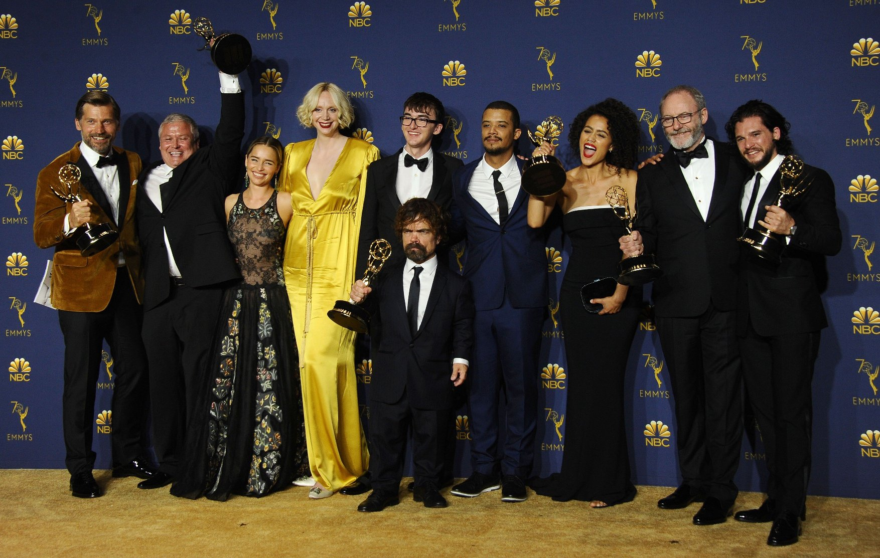 , Los Angeles, CA -20180917 - The 70th Primetime Emmy Awards Press Room, at Microsoft Theater  -PICTURED: Game Of Thrones Cast -, Image: 387174764, License: Rights-managed, Restrictions: , Model Release: no, Credit line: Profimedia, INSTAR Images