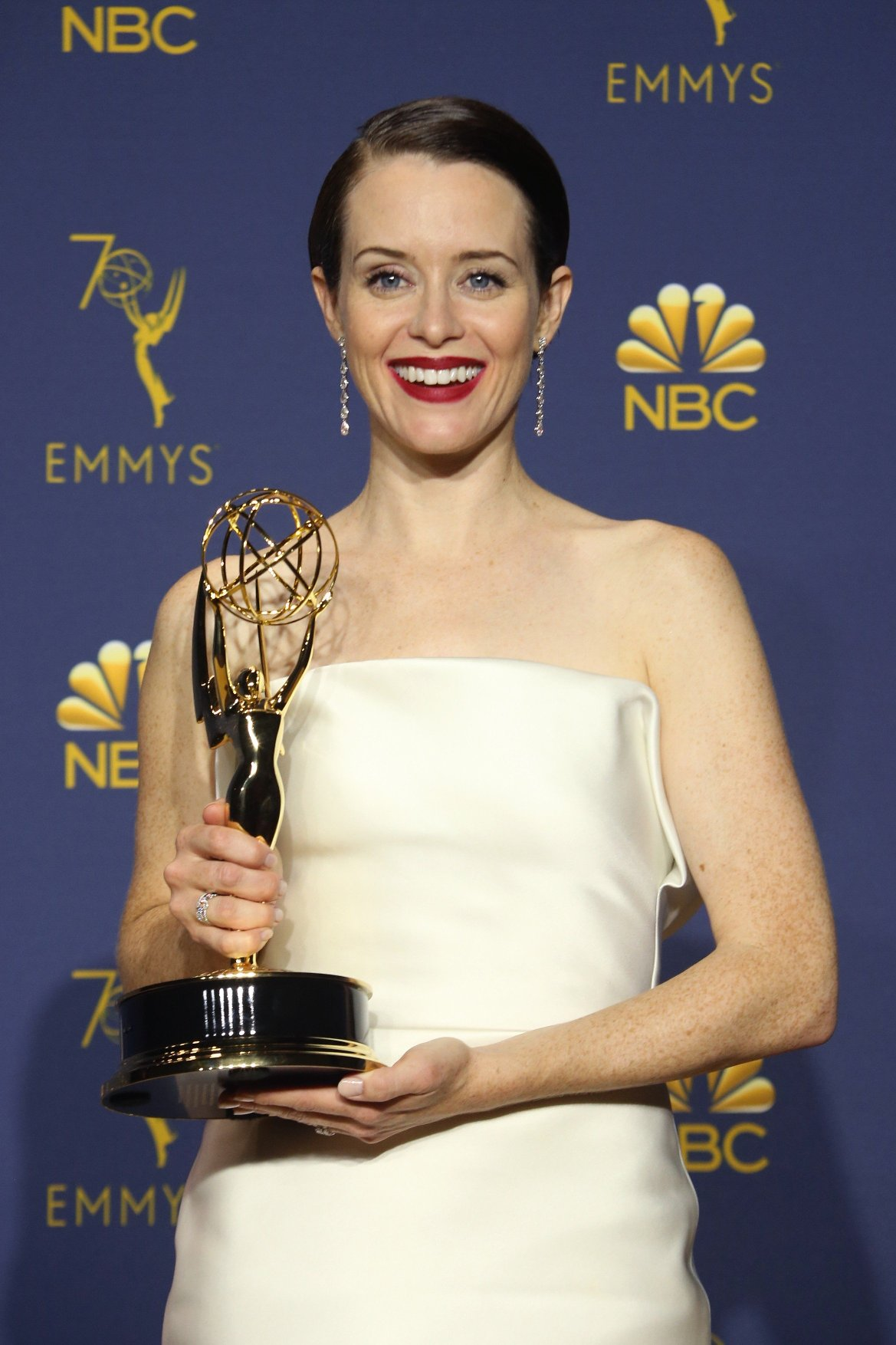 LOS ANGELES, CA - SEPTEMBER 17: Claire Foy in the press room at the 70th Primetime Emmy Awards at the Microsoft Theater in Los Angeles, California on September 17, 2018., Image: 387180018, License: Rights-managed, Restrictions: , Model Release: no, Credit line: Profimedia, Insight Media