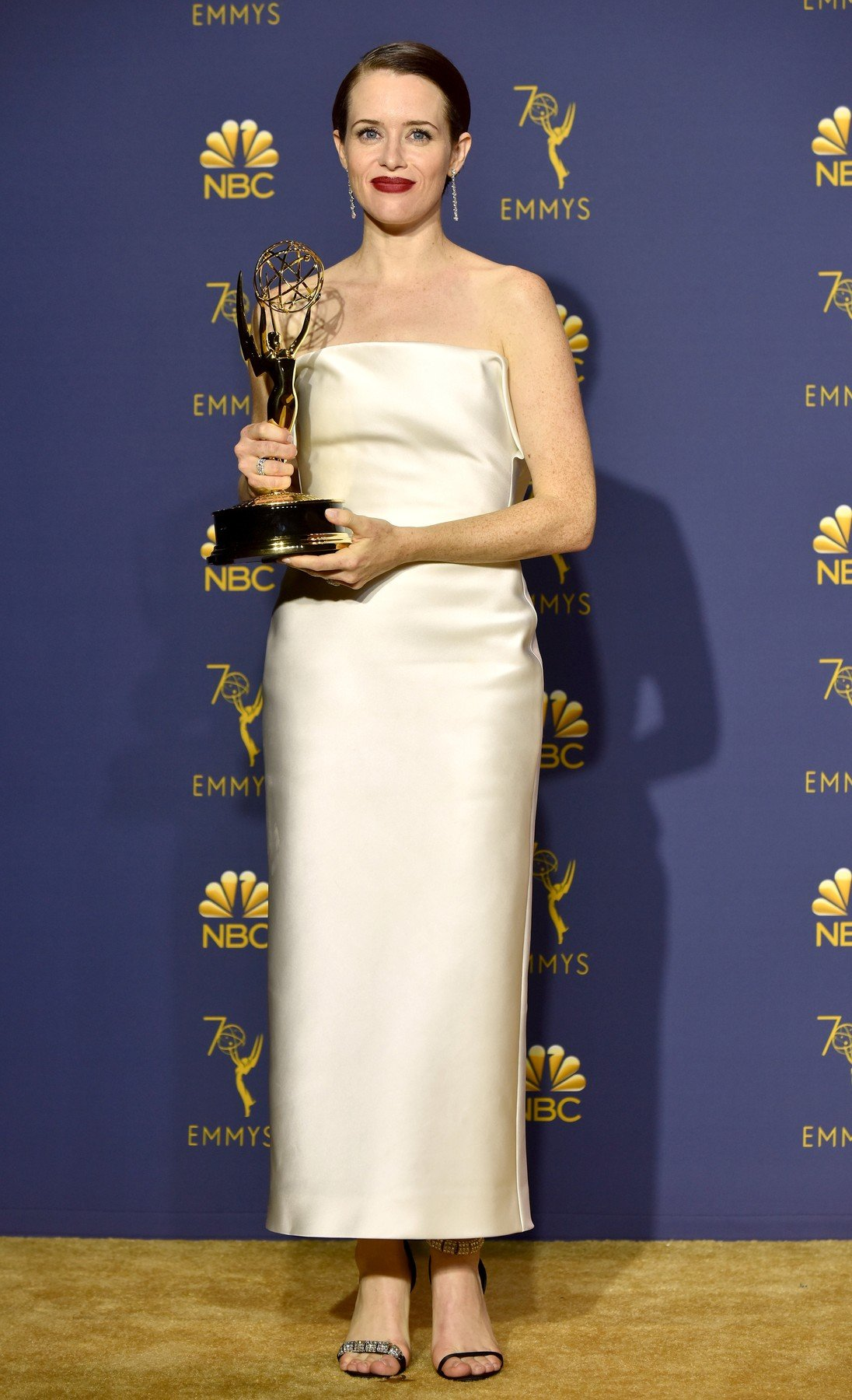 Claire Foy, winner of the award for Outstanding Lead Actress in a Drama Series for