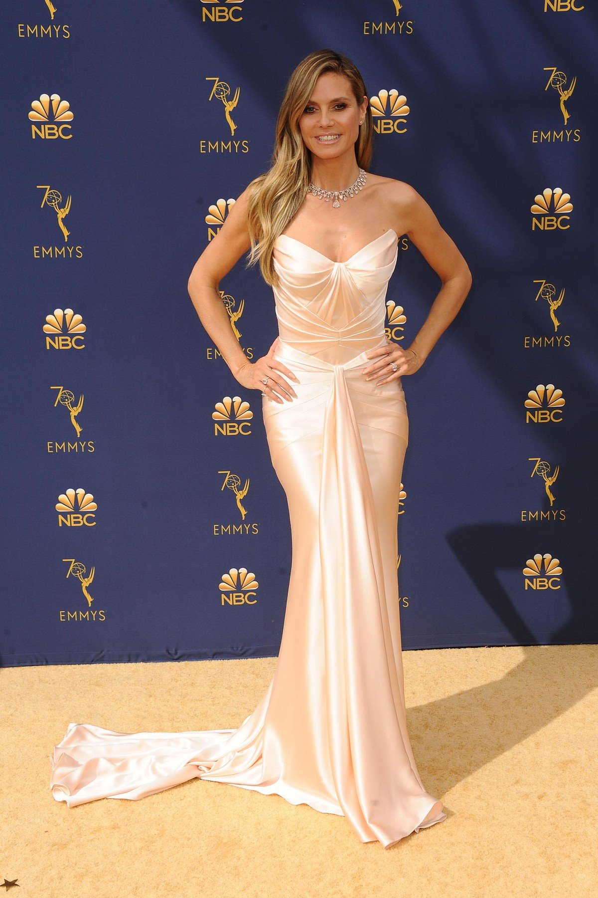 , Los Angeles, CA -20180917 - The 70th Primetime Emmy Awards Red Carpet, at Microsoft Theater  -PICTURED: Heidi Klum -, Image: 387151056, License: Rights-managed, Restrictions: , Model Release: no, Credit line: Profimedia, INSTAR Images