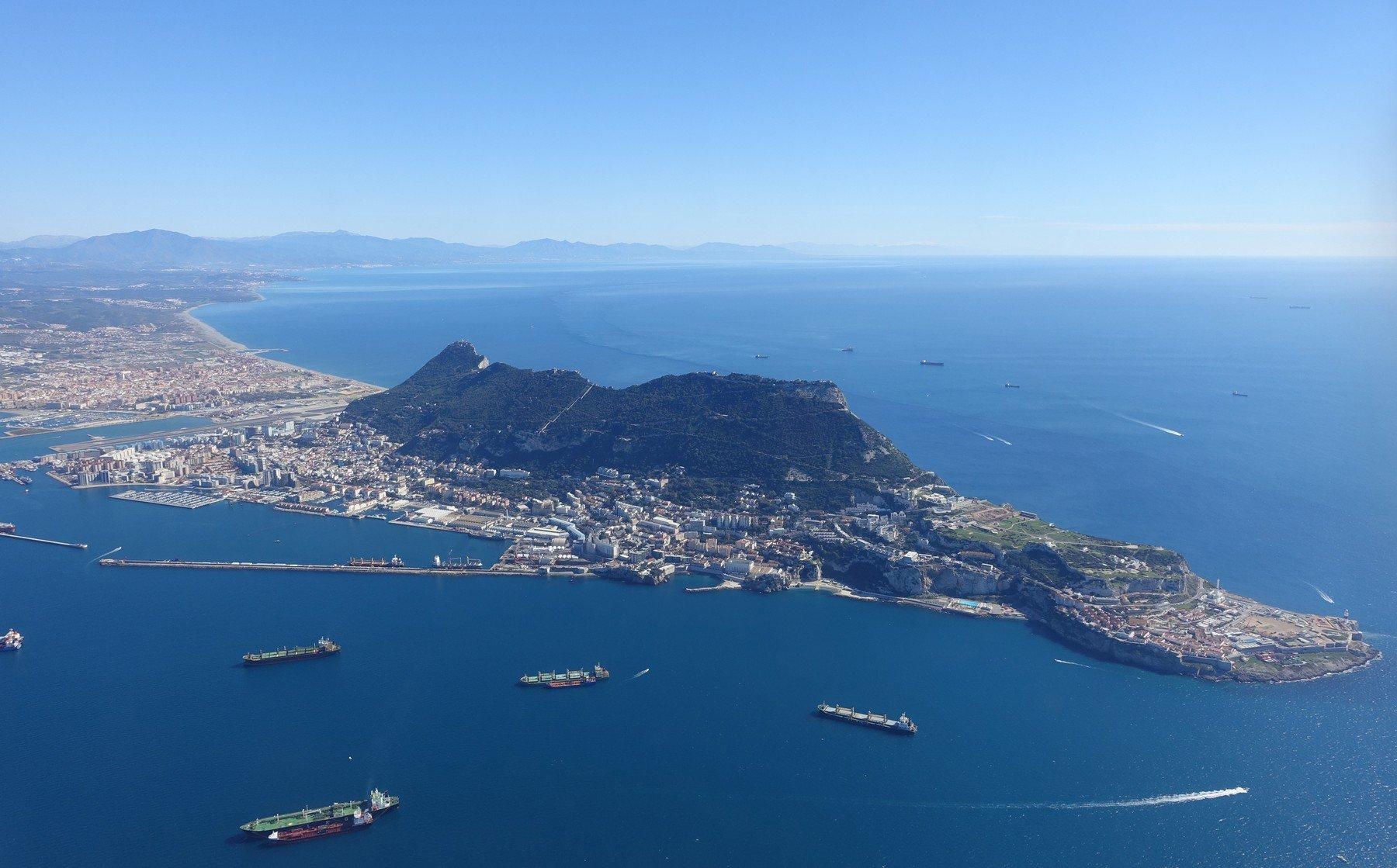 Aerial view of gibraltar, Image: 385179694, License: Royalty-free, Restrictions: , Model Release: no, Credit line: Profimedia, Panthermedia